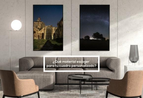 Materiales para decorar con cuadros y fotos. Cuadros Personalizados