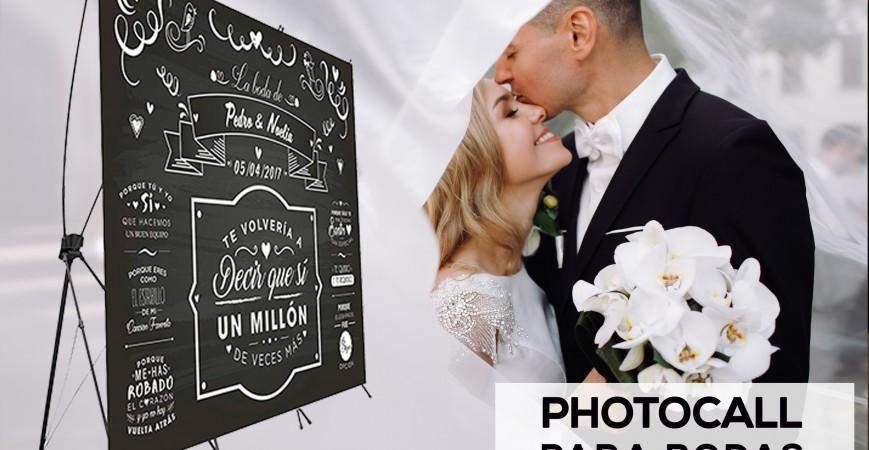 Photocall para boda barato